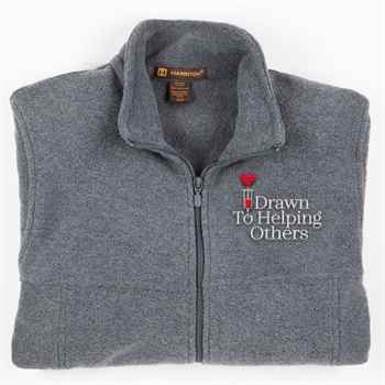 Drawn To Helping Others Harriton® Fleece Full-Zip Men's Jacket - Personalization Available
