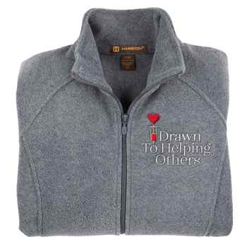 Drawn To Helping Others Harriton® Fleece Full-Zip Women's Jacket - Personalization Available