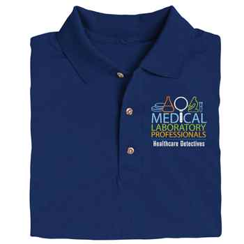 Medical Laboratory Professionals: Healthcare Detectives Gildan® DryBlend Jersey Polo - Personalization Optional