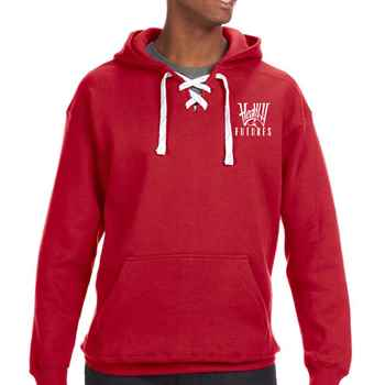 J.America® Adult Sport Lace Hooded Sweatshirt - Personalization Available