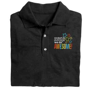 We Don't Do Average, We Do Awesome! Gildan® DryBlend Jersey Polo - Embroidery Personalization Available