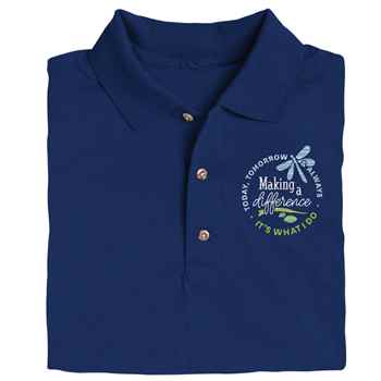Making A Difference Today, Tomorrow & Always Gildan® Dryblend Jersey Polo - Personalization Available