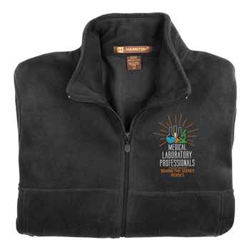 Medical Laboratory Professionals: Behind The Scenes Heroes Harriton® Fleece Full-Zip Men's Jacket - Personalization Available