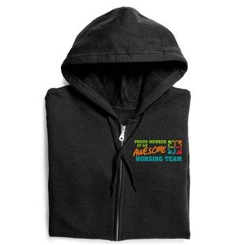 Proud Member Of An Awesome Nursing Team Gildan® Full-Zip Hooded Sweatshirt