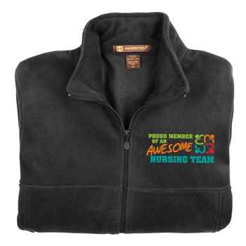 Proud Member Of An Awesome Nursing Team Harriton® Full-Zip Fleece Jacket - Personalization Available