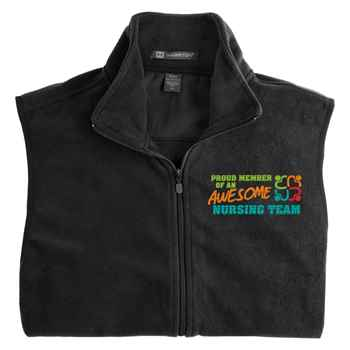 Proud Member Of An Awesome Nursing Team Harriton® Full-Zip Fleece Vest - Personalization Available