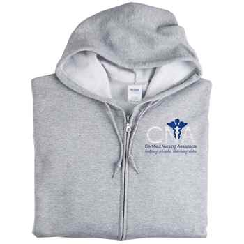 Certified Nursing Assistants: Helping People, Touching Lives Gildan® Heavy Blend® Full-Zip Hooded Sweatshirt - Personalization Available