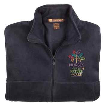 Nurses: It's In Our Nature To Care Harriton® Full-Zip Fleece Jacket - Personalization Available