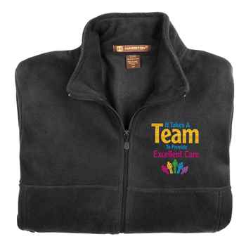 It Takes A Team To Provide Excellent Care Harriton® Full-Zip Fleece Jacket - Personalization Available