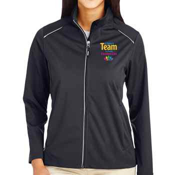 It Takes A Team To Provide Excellent Care Core 365® Three-Layer Knit Full-Zip Jacket - Personalization Available