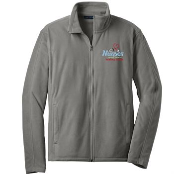 Nurses: Caring Hearts, Healing Hands Port Authority® Full-Zip Microfleece Jacket - Personalization Available