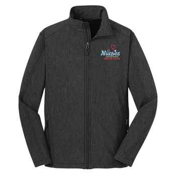 Nurses: Caring Hearts, Healing Hands Port Authority® Core Soft Shell Jacket