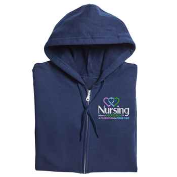 Nursing: When A Profession & A Passion Come Together Gildan® Full-Zip Hooded Sweatshirt - Personalization Available