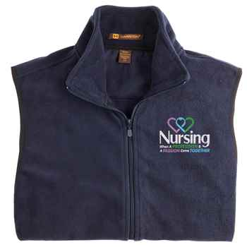 Nursing: When A Profession & A Passion Come Together Harriton® Full-Zip Fleece Vest - Personalization Available