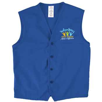 Volunteers: Every Moment Makes A Difference Edwards® Apron Vest With Breast Pocket - Personalization Available