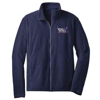 We Love, We Care, We Make A Difference Port Authority® Full-Zip Microfleece Jacket - Personalization Available