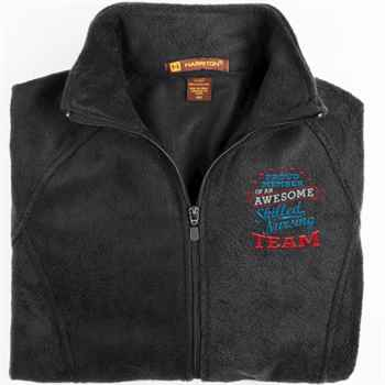Proud Member Of An Awesome Skilled Nursing Team Harriton® Fleece Full-Zip Women's Jacket - Personalization Available