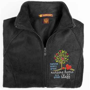 Behind Every Great Nursing Home is a Great Staff Harriton® Fleece Full-Zip Women's Jacket - Personalization Available