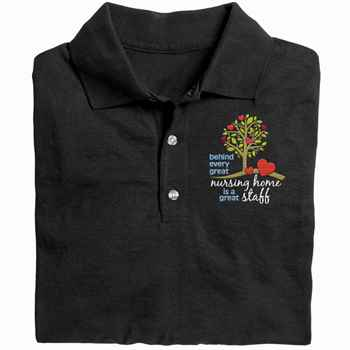 Behind Every Great Nursing Home Is A Great Staff  Gildan® DryBlend Jersey Polo - Personalization Available