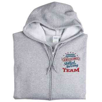 Proud Member Of An Awesome Skilled Nursing Team Gildan® Full-Zip Men's Hooded Sweatshirt - Personalization Available