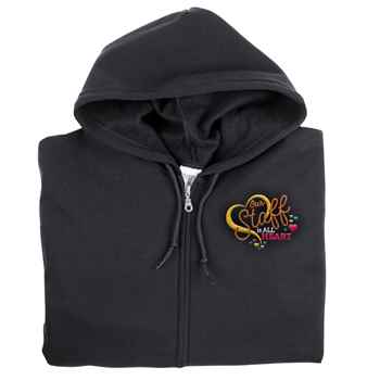 Our Staff Is All Heart Gildan® Full-Zip Hooded Sweatshirt - Personalization Available