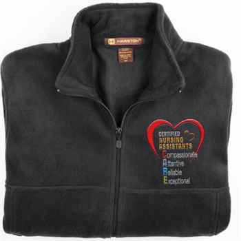 Certified Nursing Assistants: CARE Acronym Harriton®  Fleece Full-Zip Men's Jacket - Personalization Available