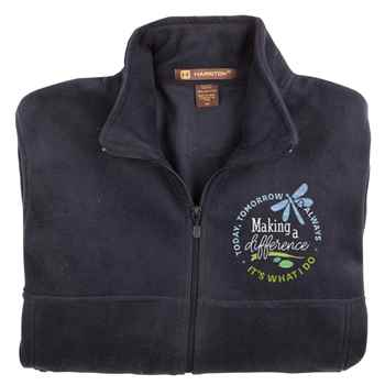 Making A Difference Today, Tomorrow & Always: It's What I Do Harriton® Fleece Full-Zip Jacket - Personalization Available