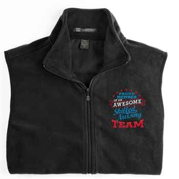 Proud Member Of An Awesome Skilled Nursing Team Harriton® Full-Zip Fleece Vest - Personalization Available