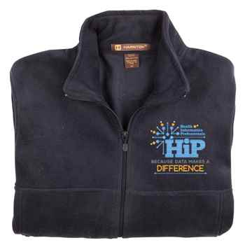 Health Information Professionals Harriton® Men's Fleece Full-Zip Jacket - Personalization Available