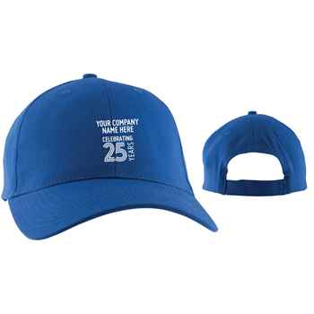 25th Anniversary Budget Structured Baseball Cap - Personalization Available