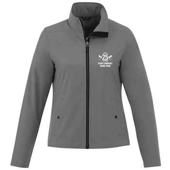 25th Anniversary Elevate® Women's Karmine Soft Shell Jacket With Additional Custom Message Inside