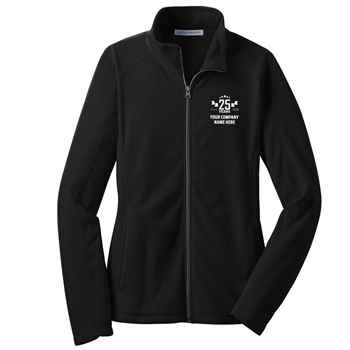 25th Anniversary Port Authority® Women's Full-Zip Microfleece Jacket - Personalization Available