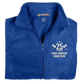 25th Anniversary Harriton® Women's Full-Zip Fleece Jacket - Personalization Available