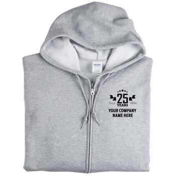 25th Anniversary Gildan® Heavy Blend™ Men's Full-Zip Hooded Sweatshirt - Personalization Available