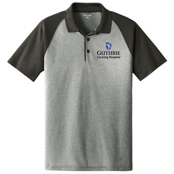 Sport-Tek® PosiCharge® Men's RacerMesh® Raglan Heather Block Polo - Embroidery Personalization Available