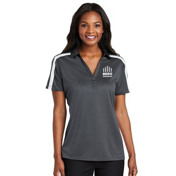 Port Authority® Women's Silk Touch™ Performance Colorblock Stripe Polo - Personalization Available