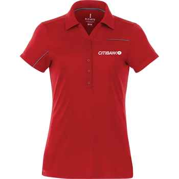 Elevate® Women's Wilcox Short Sleeve Polo - Embroidery Personalization Available