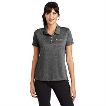 Nike® Women's Dri-FIT Heather Polo Shirt - Personalization Available