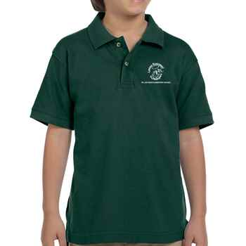 Harriton® Youth Ringspun Cotton Pique Polo - Personalization Available