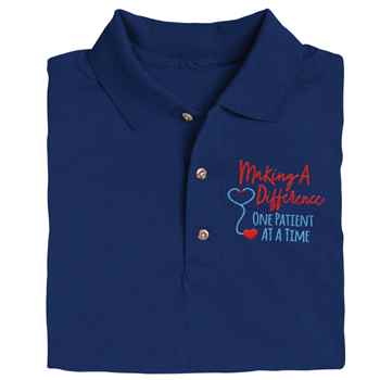Making A Difference One Patient At A Time Gildan® Dryblend Jersey Polo Shirt - Personalization Available