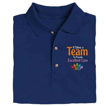 It Takes A Team To Provide Excellent Care Gildan® Dryblend Jersey Polo Shirt - Personalization Available