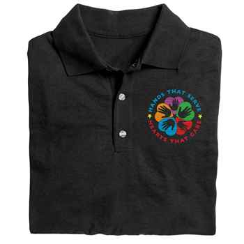 Hands That Serve, Hearts That Care Gildan® Dryblend Jersey Polo Shirt - Personalization Available