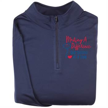 Making A Difference One Patient At A Time Augusta® Attain Quarter Zip - Personalization Available