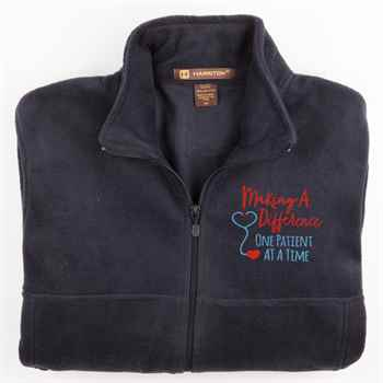 Making A Difference One Patient At A Time Harriton® Fleece Full-Zip Jacket - Personalization Available