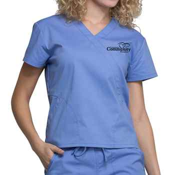 e5f3409d852 Cherokee Workwear Professionals Women's Mock Wrap Scrub Top -  Personalization Available | Positive Promotions