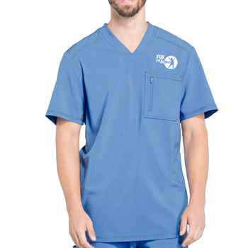 Cherokee® Men's Infinity V-Neck Scrub Top with Antimicrobial Additive  - Personalization Available