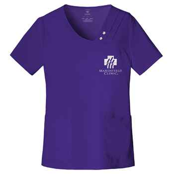 Cherokee® Luxe Women's Crossover V-Neck Pin-Tuck Top - Personalization Available
