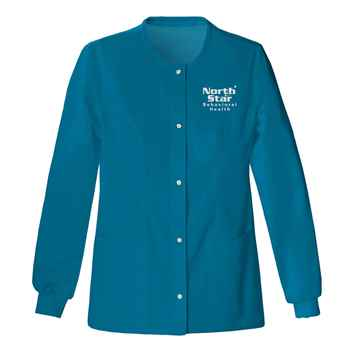 Cherokee® Luxe Women's Snap Front Warm-Up Jacket - Personalization Available