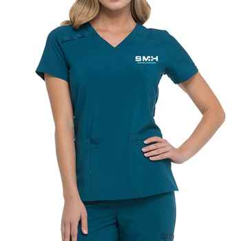Dickies® Women's EDS Essentials Mock Wrap Scrub Top - Personalization Available