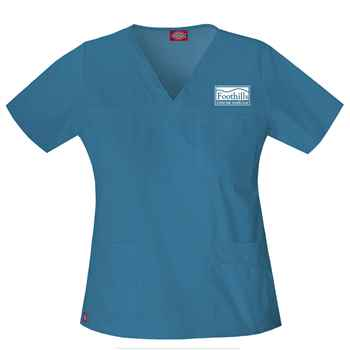 Dickies® Women's Gen Flex V-Neck Top - Personalization Availalbe